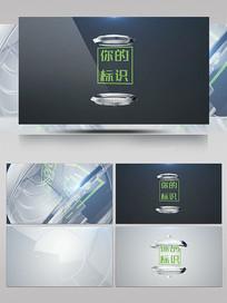 透明玻璃球标志揭示开场ae模板