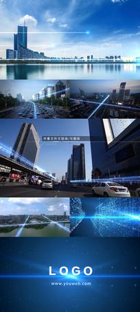 未来科技城市宣传片头ae模板
