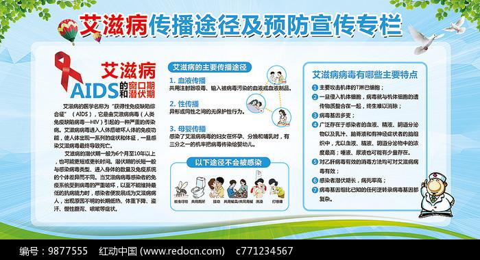 预防艾滋病宣传专栏展板图片