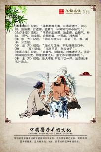 中国医学羊奶文化海报