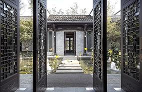 中式荷塘庭院设计