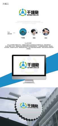 干细胞logo设计 AI