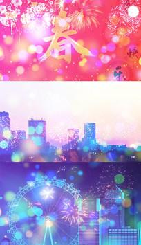 歌曲春回大地贺新年背景视频