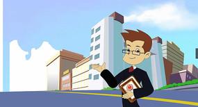 卡通解说法官形象视频