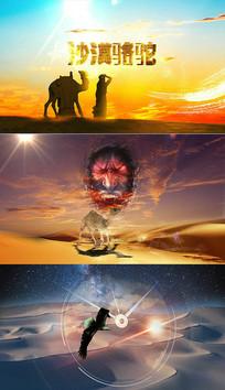 沙漠骆驼配乐视频背景