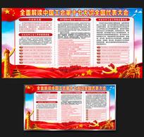 中国工会十七大党建展板