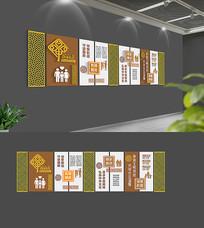 中式社区文化墙模板