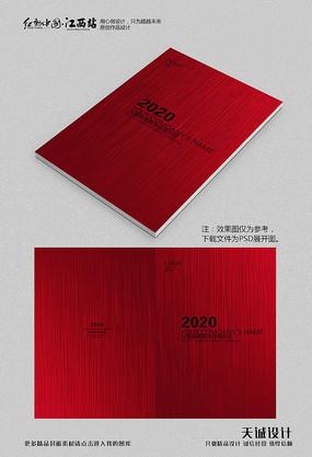 现代简约红色质感画册封面 PSD
