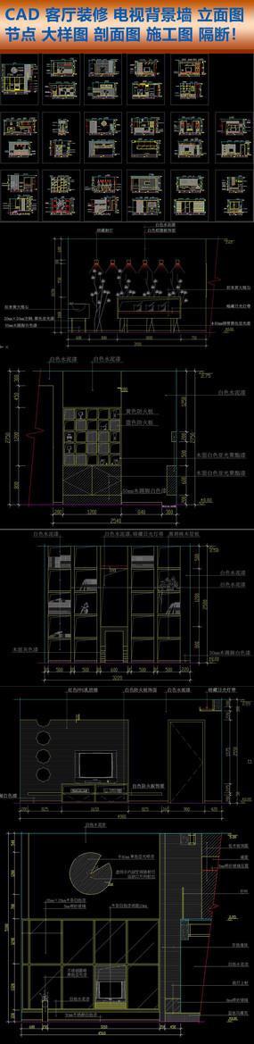CAD客厅装修施工图建筑节点