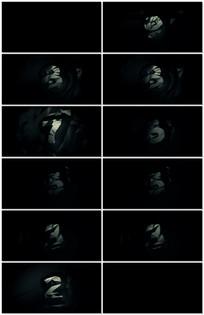 暗黑风格折纸数字动画倒计时
