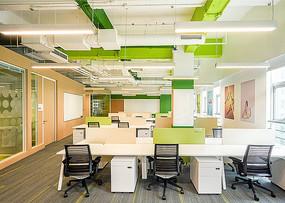 创意办公楼绿色元素意向图