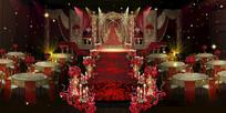 婚礼主仪式区效果图设计 PSD