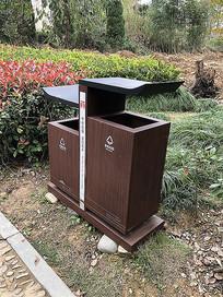 江南水乡古镇中式复古垃圾桶