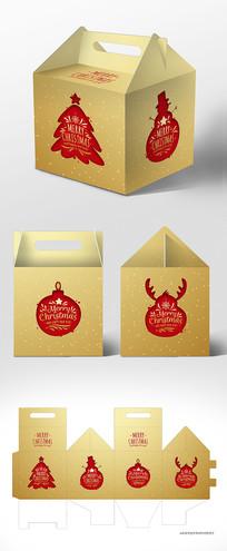 简约高档新年圣诞节包装礼盒