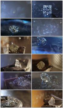 晶莹剔透的钻石展示视频