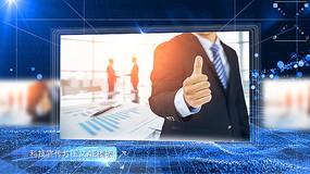 科技图文企业宣传片AE模板