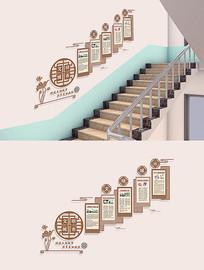 社区文明城市文化墙楼梯模板
