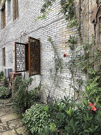 中式建筑外立面镂空窗花