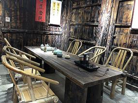 中式休闲茶座木桌椅