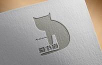 爱书猫logo设计