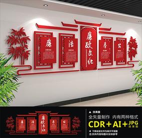 红色大气廉政文化墙