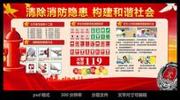 红色大气消防安全展板设计