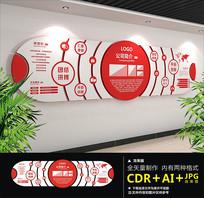 红色精品企业文化墙