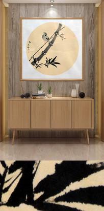 水墨国画竹子装饰画