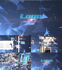 科技图片汇聚LOGO文字展示