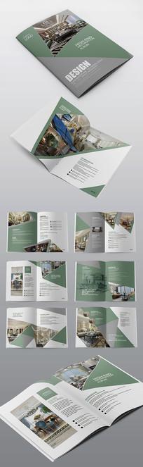 绿色简约家装家居企业宣传画册