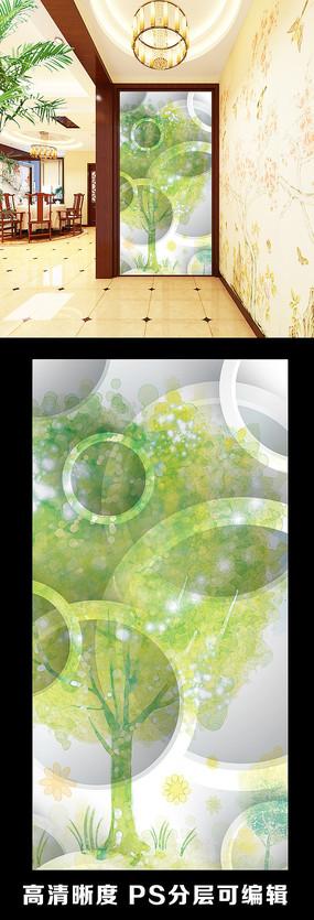 绿色自然立体绿色抽象玄关