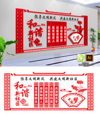 中国社区社区文化墙