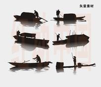船剪影素材