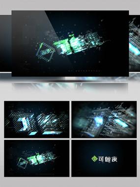科技感三维logo演绎片头
