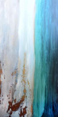 高清立体抽象意境油画玄关