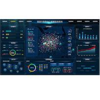 炫酷数据可视化大屏界面背景