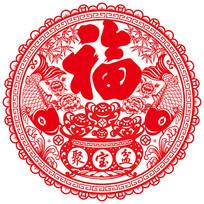 新年剪纸春节窗花传统剪纸