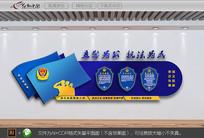 警营公安局宣传文化墙