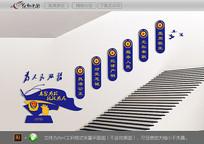 警营楼梯文化墙