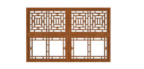 雕花中式窗格 skp