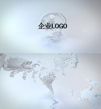 地球标志企业LOGO模板