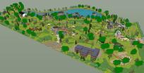 风景区景观SU模型