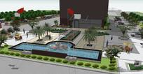 酒店景观方案SU模型