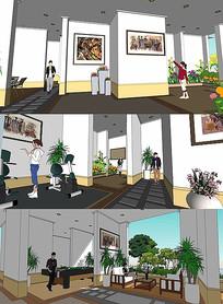 室内布景SU模型