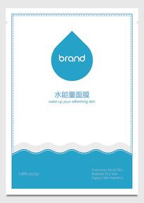 水滴形水能量补水面膜包装