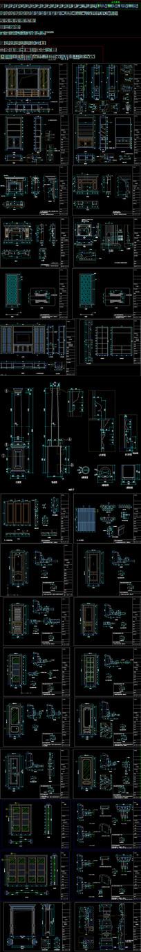 2019标准木门图库 CAD