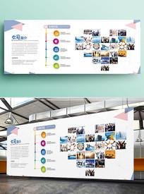 清新企业文化墙照片墙