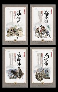 中国古代四大名医中医文化展板