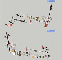 中式灯具SU模型 skp