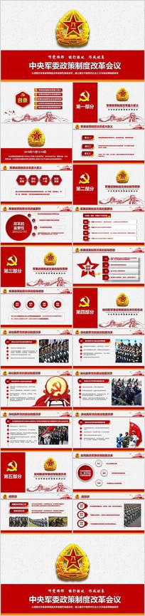 中央军委政策制度改革PPT